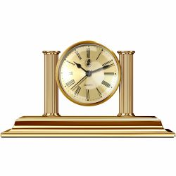 Casa si birou Ceas Birou El Casco cu suport instrument scris Gold