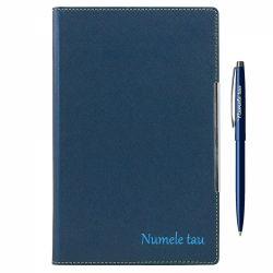 Seturi instrumente de scris Set personalizat pix + agenda A5 albastru