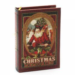 Cadouri Sarbatori  Ornament pentru brad carte Mos Craciun