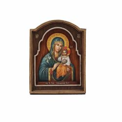 Icoana Maica Domnului Ierusalim Icoana lemn pictat in relief  MD Crin