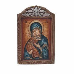 Nunta si Botez Icoana lemn pictat in relief  MD Vladimir