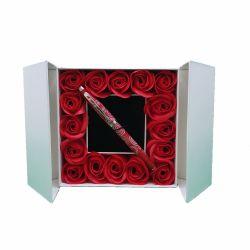 Stiloul Dascalului Parker Premium  Stilou Sheaffer Pattern Red cutie trandafiri