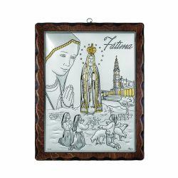 Icoane  Icoana Maica Domnului de la Fatima 17 x 21 cm