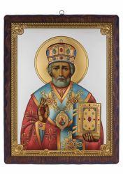 Icoane  Icoana Sfantul Nicolae argintata 17x21,5 cm