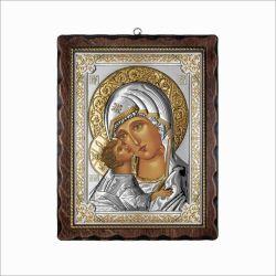 Icoane  Icoana Maica Domnului din Vladimir 17x21,5 cm
