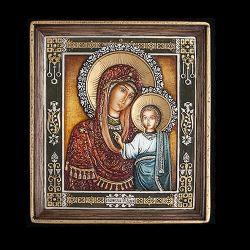 Icoane  Icoana Maica Domnului din Kazan cu Pruncul 17x15cm