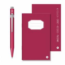 Accesorii diverse Set Caran d'Ache pix si notebook Purplish Red