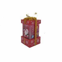 Ornament pentru bradul de Craciun masina vintage Felinar cutie cadou Mos Craciun cu LED