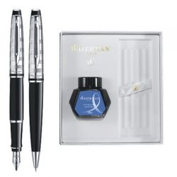 Set Waterman stilou si pix Expert DeLuxe Black CT