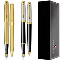 Instrumente de scris Set Sheaffer Prelude Black Onyx & Chased Palladium