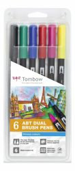 Set Tombow Creativ ABT Dual Brush Pen 6 culori
