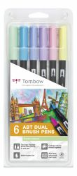 Set Tombow Creativ ABT Dual Brush 6 culori