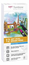 Set Tombow Creativ ABT Dual Brush Pen 12 culori