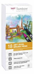 Set Tombow Creativ ABT Dual Brush Pen 18 culori