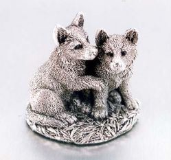 Decoratiuni Figurina Cocker Spaniol Portelan Argint