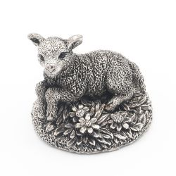 Decoratiune pisici Portelan Argint  Decoratiune miel Portelan Argint