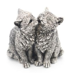 Decoratiuni casa Decoratiune pisici Portelan Argint