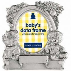 Botez Rama foto Baby Data Staniu 6X9 cm Royal Selangor