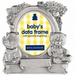Rama foto Marrakech Bianca 10x15 cm Rama foto Baby Data Staniu 6X9 cm Royal Selangor