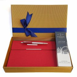 Set pix Parker Jotter London red cu notes plic