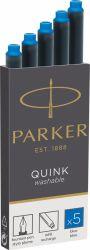 Set Parker Pix Jotter Royal West si Etui Cartuse cerneala Parker albastru lavabil
