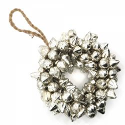 Cadouri Sarbatori  Ghirlanda ornamentala sticla argintie