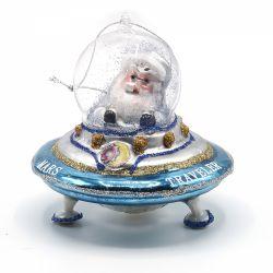 Ornament pentru bradul de Craciun inima/stea/ glob Ornament pentru brad Mos Craciun in OZN