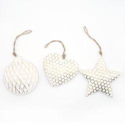 Ornament pentru bradul de Craciun stea aurie  Ornament pentru bradul de Craciun inima/stea/ glob
