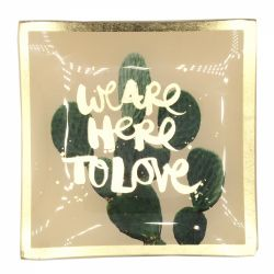 Martie Farfurie decorativa We are here to love