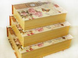 Cadouri Sarbatori  Set cutii tip carte din carton pentru cadouri