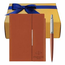 Cadouri Sarbatori  Set Parker pix Jotter Royal Orange cu notes Velvet B6