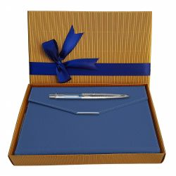 Instrumente de scris Set Parker pix Jotter Royal London Blue cu agenda plic