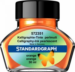Instrumente de scris Cerneala perlata caligrafie orange Standardgraph 30 ml