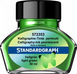 Caligrafie Cernela perlata verde deschis Standardgraph 30 ml