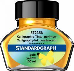 Caligrafie Cerneala perlata caligrafie galbena Standardgraph 30 ml
